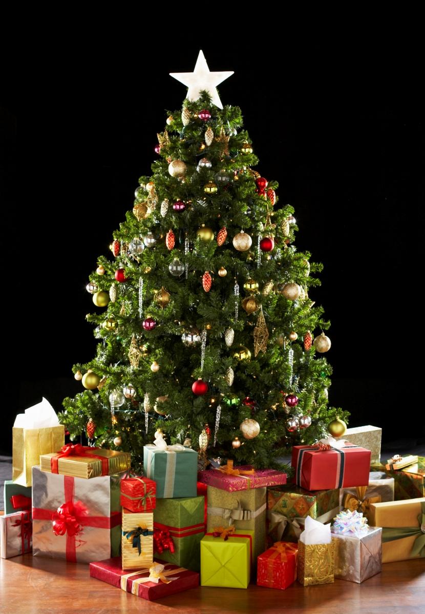Christmas Tree With Presents - Christmas