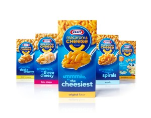 Varieties of Kraft Macaroni 'N Cheese