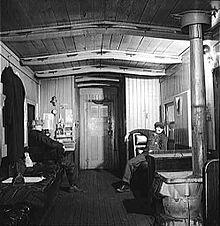 Caboose interior, 1943