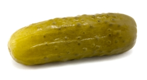 A dill pickle