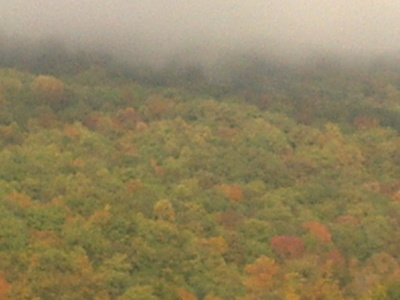 fall mountain fog