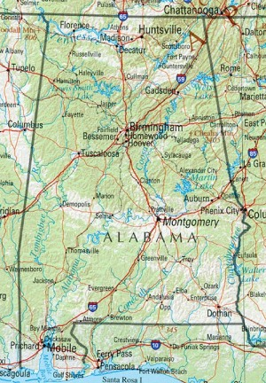Alabama, maps