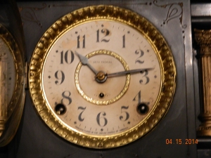 Seth Thomas Adamantine Clock Face