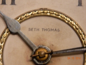 Seth Thomas Adamantine Clock label