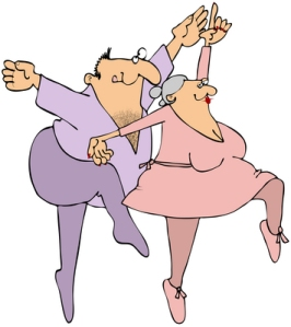 Middle-Aged Couple Dancing