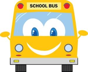 Bus, happy, smiling