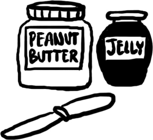 Peanut Butter adn Jelly sandwich