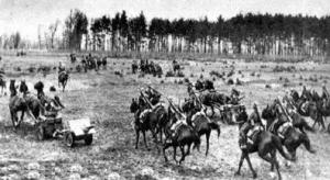 Polish Cavalry Fighting the Battle of Bzura in World War II (Public Domain)