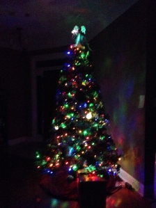 Tree 1, pre-lit, colored lights