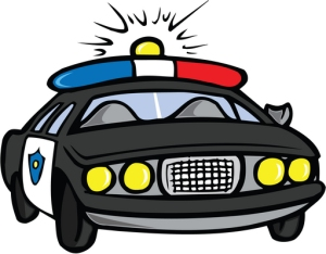 police car with lights on